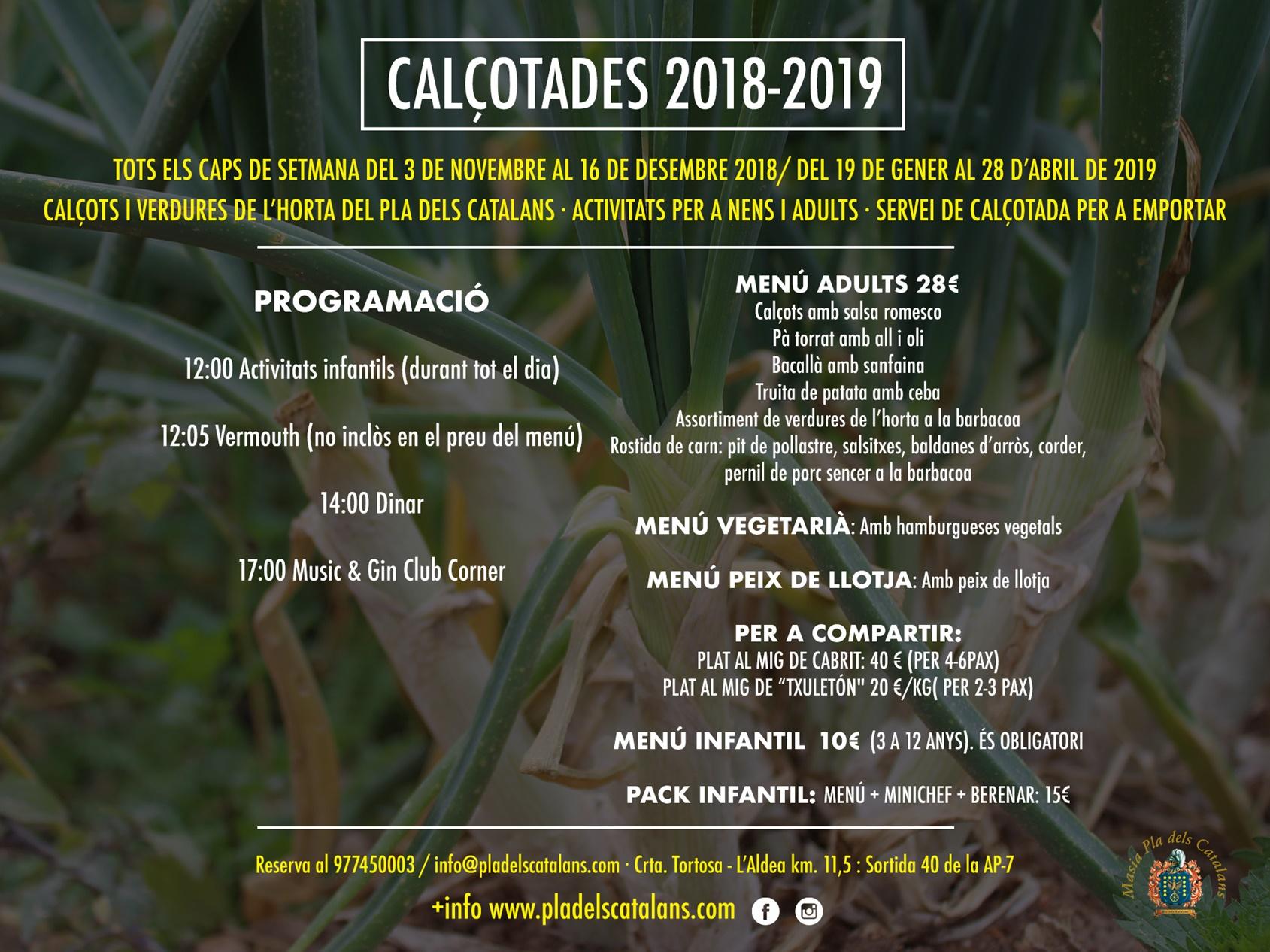 calçotades pla dels catalans 2018-2019